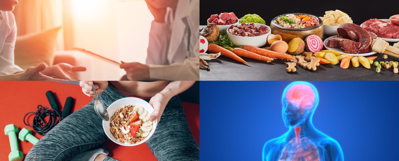 講義イメージ:運動と栄養の統合